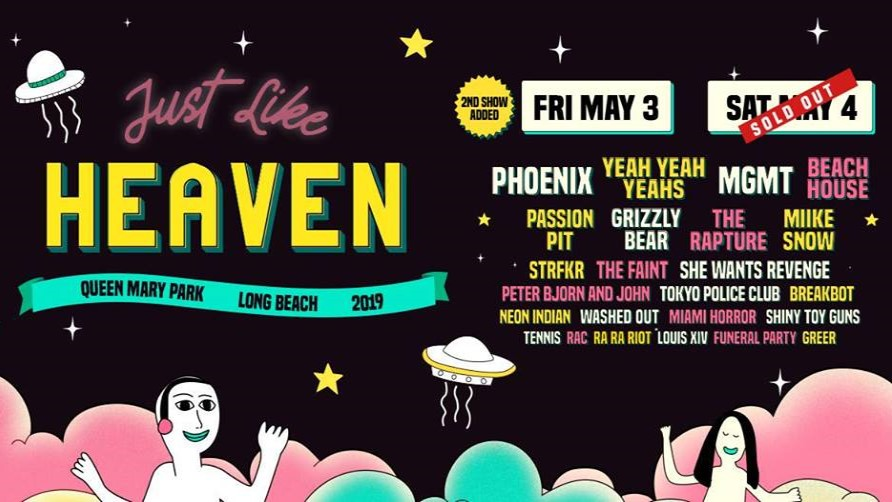 Just Like Heaven Festival Event Profile | RSVPii